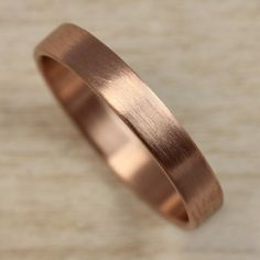 rose gold wedding band aide-memoire
