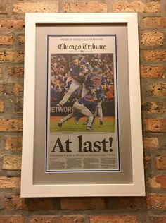 at last chicago tribune cubs victory frame factory
