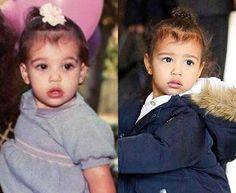 Kim & North  #northwest #kimkardashian #twins