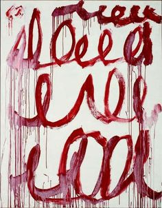 CY TWOMBLY Untitled, 2006 acrylic on canvas