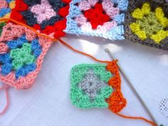 My Rose Valley: Granny Square join as you go - a tutorial