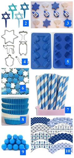 Holiday Roundup: Hanukkah Baking and Party Supplies- Holiday Roundup: Hanukkah Baking and Party Supplies Holiday Roundup: Hanukkah Baking and Party Supplies – Edible Crafts - Hanukkah Crafts, Feliz Hanukkah, Jewish Crafts, Hanukkah Food, Hanukkah Decorations, Christmas Hanukkah, Happy Hanukkah, Hanukkah Recipes, Hanukkah 2016