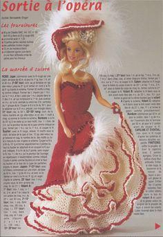Voici aujourd'hui un autre modèle pour Barbie.   Barbie aime beaucoup sortir et cette fois-ci elle souhaite aller à l'opéra. Qu'a cela ne ti...