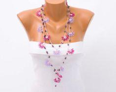 Joyería del collar de oya hilo de ganchillo Turco oya por SenasShop