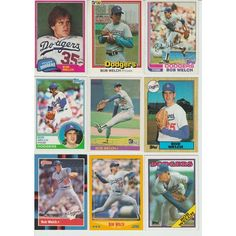 HUGE 50 + Different BOB WELCH cards lot 1981 - 2005 Dodgers Athletics mini big Listing in the 1980-1989,Sets,MLB,Baseball,Sports Cards,Sport Memorabilia & Cards Category on eBid United States | 148095238