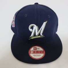 9ab267287fe New Era 9fifty Milwaukee Brewers MLB Team 950 Hat Cap Snapback Blue NEW   NewEra  BaseballCap