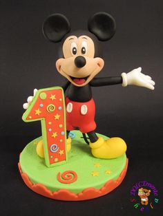 topper for the first birthday of a beautiful baby! Mickey Mouse is 25 cm high https://www.facebook.com/DOLCEmenteSheila?ref=hl