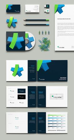 weandthecolor:  *interastar – Brand Identity by Necon More about the brand identity on WE AND THE COLOR. Design, Branding, and Graphic Desig...