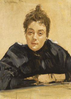 036L13114_6WLZX_reshoot.jpg (1431×2000)ВАЛЕНТИН СЕРОВ Женский портрет (возможно, Марии Васильевны Якунчиковой). 1892  Холст, масло. 65 × 46