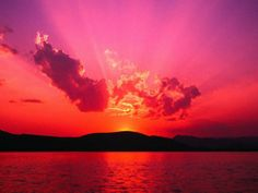 how many of you seen a sunset? ive seen this one before! its the best sunset EVER! Beautiful Sunset, Beautiful Places, Amazing Sunsets, Last Unicorn, Pink Sunset, Pink Sky, Sunset Lake, Summer Sunset, Ocean Sunset