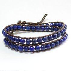 lapis lazuli bracelet   Double Wrap Lapis Lazuli Bracelet
