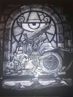 The Legend of Zelda: The Minish Cap done in Scratch board~ I did this a year ago in my art class and i can do requests if you guys want me to create a drawing for you~