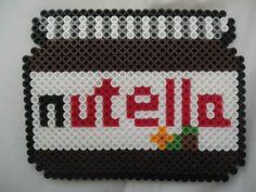 Nutella jar perler beads by PerlerHime http://mistertrufa.net/librecreacion/culturarte/?p=12