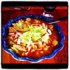 Pozole!! Típico platillo mexicano!! Typical Mexican dish!!!  Delicious!!! Delicioso!!!
