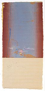 FRANKENTHALER, Helen  United States of America 1928    Essence mulberry 1977  relief  colour woodcut printed from four woodblocks  buff, laid, handmade, Maniai gampi paper  edition of 46, plus 10 AP, 13 TP, 2 WP, RTP, PPI, A, 8 RP  right to print  no manufacturer's mark  Eight colours printed from four woodblocks