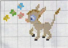 Cross Stitching, Cross Stitch Embroidery, Embroidery Patterns, Mini Cross Stitch, Cross Stitch Animals, Cross Stitch Designs, Cross Stitch Patterns, Broderie Simple, Perler Patterns