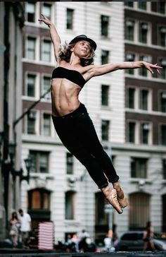 Dancers against city backdrops by Omar Robles (Wall Street - Manhattan) Street Ballet, City Backdrop, Ballet Dance, Ballet Skirt, Backdrops, Pole Dance, Running, Wall Street, Dancers
