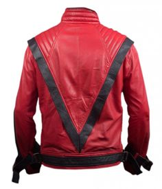 F&H Men's Michael Jackson Thriller Jacket 4XL Red at Amazon Men's Clothing store: