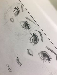 Christina Lorre is so talented Pencil Art Drawings, Cool Art Drawings, Art Drawings Sketches, Drawing Drawing, Drawing Ideas, Drawing Faces, Drawing Tips, Eye Drawings, Cartoon Eyes Drawing
