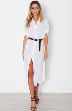 Discover the range of women's dresses from mini to cocktail and formal dresses. Old Dresses, Formal Dresses, Sans Serif, Serif Font, Wrap Dress, White Dress, Font Family, Stuff To Buy