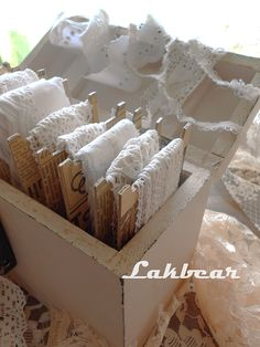 Diy Recycle, Recycling, Decoupage Glue, Ribbon Storage, Dry Well, Old Newspaper, Organizing Solutions, Lace Ribbon, Craft Rooms