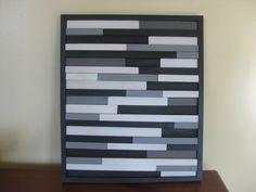 Wood Sculpture Wall Art Abstract Art Grays by StripsandStripes, $50.00