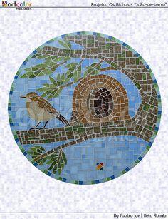 Mosaico pássaro - João de Barro by Artcolor mosaicos - Beto Romio & Fabbio Joe, via Flickr