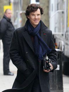 Benedict Cumberbatch On The Set Of 'Sherlock'
