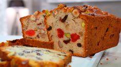 Receta de repostería paso a paso de Bizcocho o Pudin inglés con frutas escarchadas y frutos secos, un dulce muy fácil de hacer.