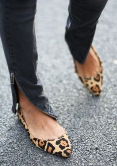 leopard flats and skinnies