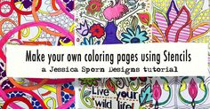 """""""@jessica_sporn is on the blog today with a WONDERFUL video tutorial on creating your own Coloring Pages with StencilGirl Stencils! Go to…"""""""