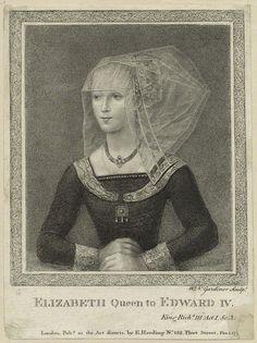 Elizabeth Woodville Portrait   Elizabeth Woodville, by William Nelson Gardiner, published by Edward ...