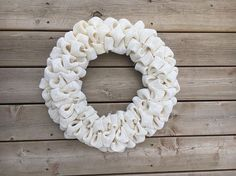 Ivory Burlap Wreath Ivory Burlap Wedding Wreath Wedding