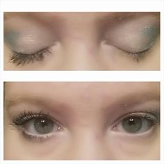 Look, on my left eye I have no lashes...right with 3D mascara...lashes for days!