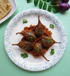 gutti vankaya ulli karam recipe, andhra style stuffed brinjal recipe, spicy onion stuffed eggplants recipe