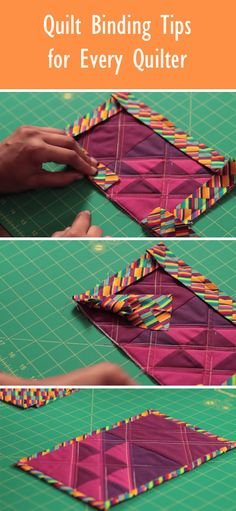 Sewing Quilts Discover quilt binding techniques and tips every quilter should know! - Once youve finished your quilt top and have quilted the layers together, youre ready to add the quilt binding. Here are a few quilt binding tips. Quilting For Beginners, Quilting Tips, Quilting Tutorials, Hand Quilting, Machine Quilting, Quilting Projects, Quilting Designs, Sewing Projects, Patchwork Quilt