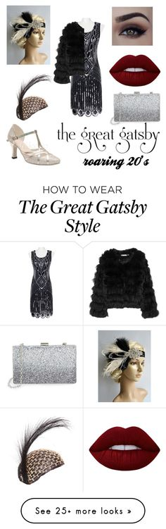 """the great gatsby style - the roaring 20's"" by adela-pysova on Polyvore featuring Alice + Olivia, Sondra Roberts and Lime Crime"