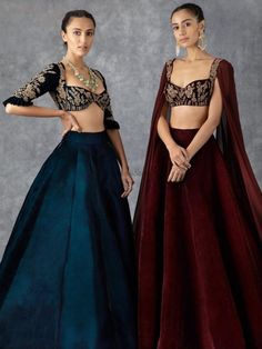 Indian Gowns Dresses, Indian Fashion Dresses, Indian Designer Outfits, Designer Dresses, Velvet Dress Designs, Indian Bridal Outfits, Wedding Outfits, Lehnga Dress, Lehenga Designs