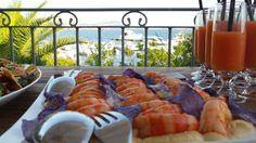 Buffer di antipastini freddi sulla terrazza vista mare - Hotel Gabbiano Azzurro