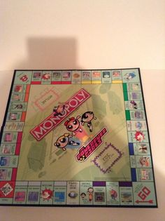 2001 Parker Brothers Monopoly Power Puff Edition Game Board Replacement Parts #ParkerBrothers
