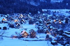 winter in Shirakawago village in Gifu Japan a UNESCO World Heritage Site