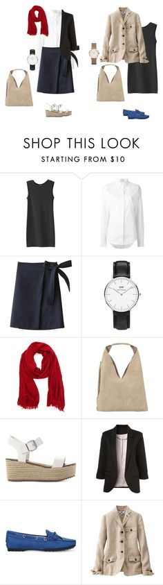 """cool teacher look 2"" by yuri-writer on Polyvore featuring WithChic, Anthony Vaccarello, INZI, Steve Madden, Tod's, Uniqlo and Topshop"