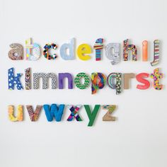 Kids' Banners & Hanging Décor: Kids Vintage Craft Paper Patterened Letters Wall Decor in Hanging Décor | The Land of Nod