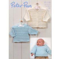 Cardigan and Sweater in Peter Pan DK 50g