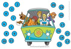 Scooby-Doo reward chart.