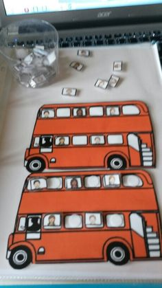 Taal / Wisk. - Zet de kinderen op de juiste plaats in de bus