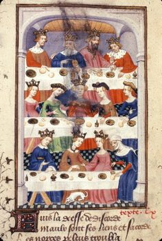 Harley 4431 f. 122v (British Library). Wedding of Peleus and Thetis from x by Christine de Pizan, Paris, France, ca. 1410-1414. The greater work of which it is a part is also known as The Book of the Queen.