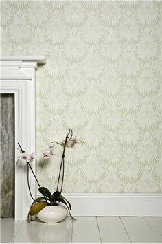 An inspirational image from Farrow and Ball. Wimborne white No 239. Lotus BP 2041.