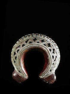 Africa | Currency bracelet from the Bamoun / Bamileke people of Cameroon | Used as a currency at weddings (dowry) or other important transactions | ca. 1990