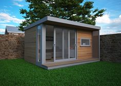 Flat roof garden offices come in all sizes, they are popular because they are Planning Permission friendly